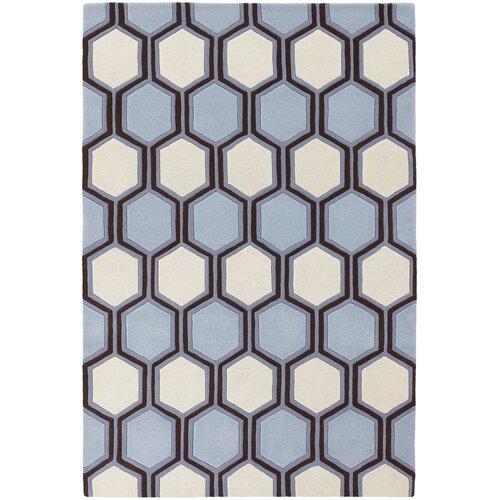 Chandra Rugs Inhabit Designer Blue/Off White Rug