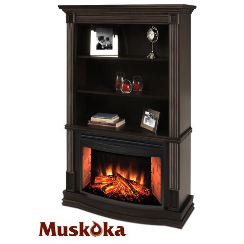 Muskoka Picton Bookcase Electric Fireplace