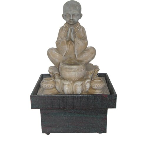 EwaterFeatures Authentic Monk Spring Statue