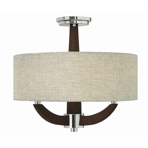Fredrick Ramond Cameron 3 Light Semi Flush Mount