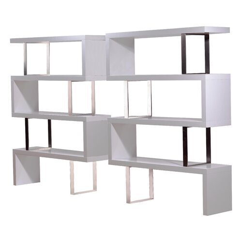 "Modloft Pearl 66"" Bookcase"