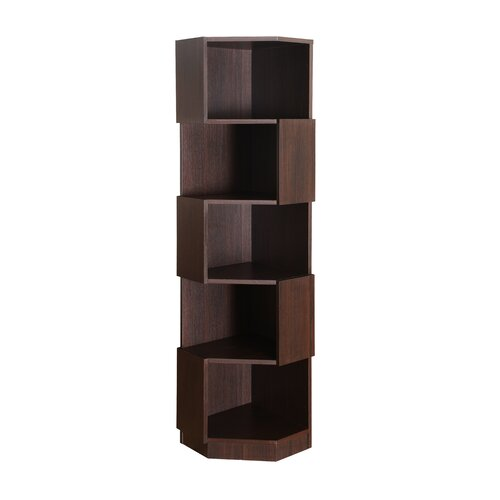 "Hokku Designs Levia Corner 71"" Bookcase & Reviews 