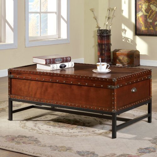 Hokku Designs Benjamin Trunk Coffee Table With Lift Top