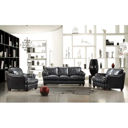 Hokku Designs ESP Riotinto 3 Piece Leather Sofa Set
