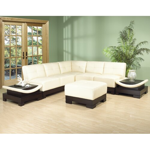 Hokku Designs Mirage Bonded Leather Sectional