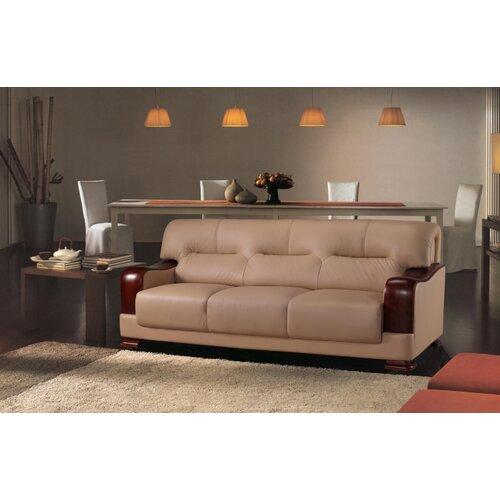 Hokku Designs Tourmaline 3 Piece Leather Sofa Set