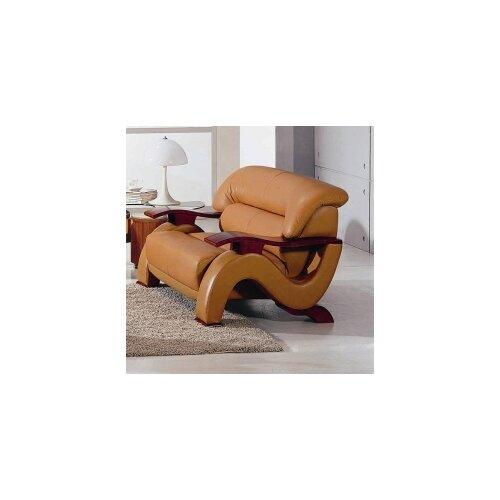 Hokku Designs Chrysocolla Leather Loveseat