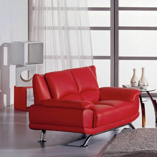Hokku Designs Jaeger Leather Loveseat