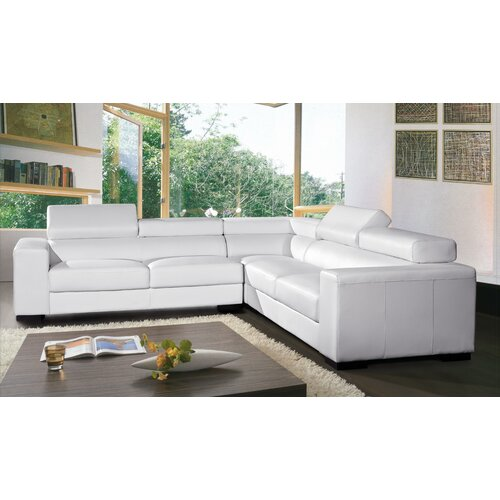 Burdie Leather Sectional