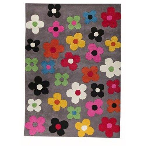 Hokku Designs Milan Grey Blossom Rug