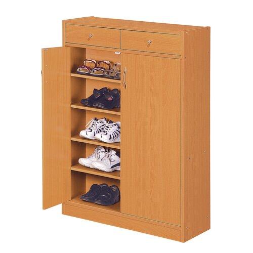 Hokku Designs Brick Modern 5 Shelf Shoe Cabinet with 2 Drawers