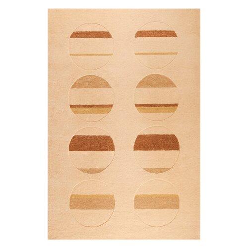 Hokku Designs Orb White/Brown Rug
