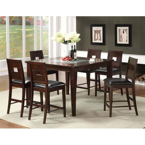 Hokku Designs Primrose 7 Piece Counter Height Dining Set