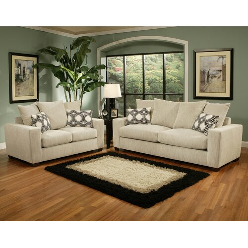 Brooklyn Upholstered Sofa and Loveseat Set