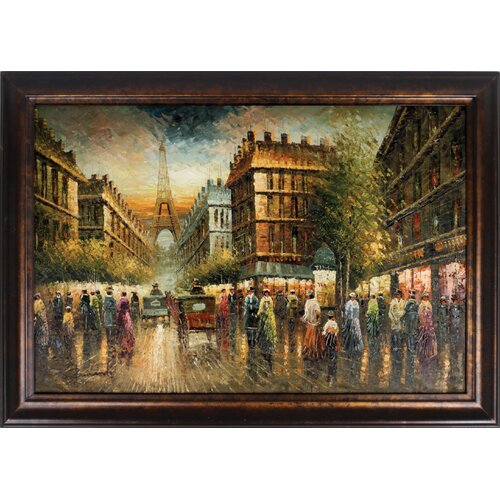Paris Street Framed Original Painting