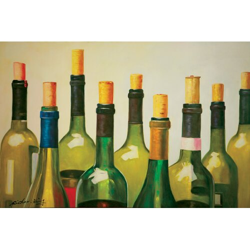 Hokku Designs Wine Spirit Painting Print on Canvas
