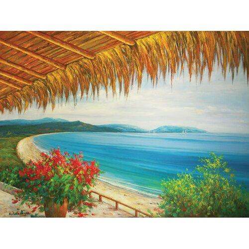 Hokku Designs Sunnyville Original Painting on Canvas