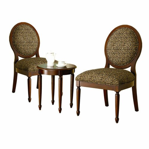 Titusville 3 Piece Cotton Slipper Chair and Side Table Set
