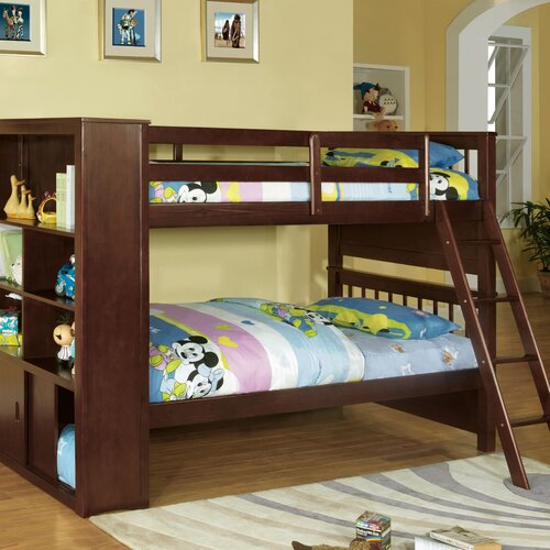 Braxton Twin over Twin Bunk Bed with Bookshelves