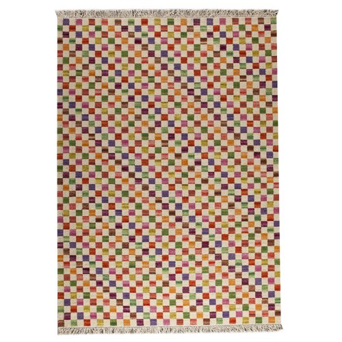 Hokku Designs Checkers White/Multi Rug