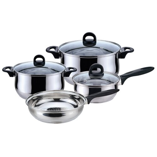 Magefesa Bohemia Stainless Steel 7-Piece Cookware Set