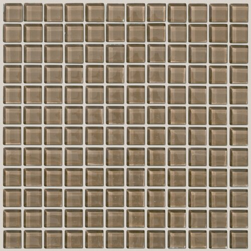 Shaw Floors Glass Essentials Squares Accent Tile in Chai
