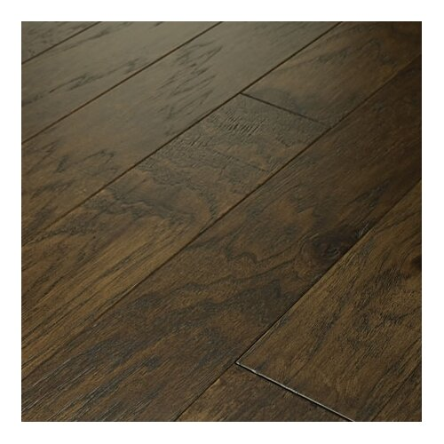 """Shaw Floors Brushed Suede 5"""" Engineered Hickory Flooring in Bison"""