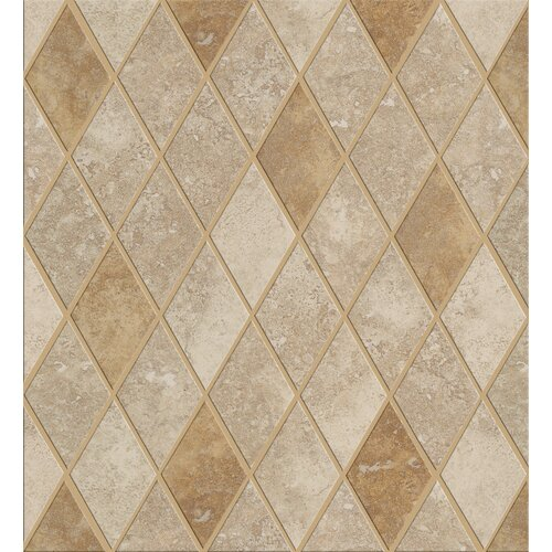 Shaw Floors Soho Rhomboid Tile Accent in Gascogne Beige / Walnut