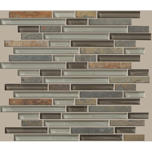 Shaw Floors Mixed Up Random Sized Linear Mosaic Slate Accent Tile in Pikes Peak