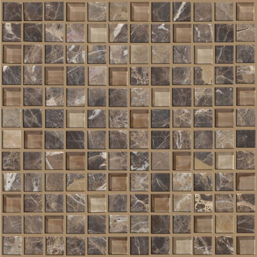 Shaw Floors Mixed Up Mosaic Marble Accent Tile in Dakota