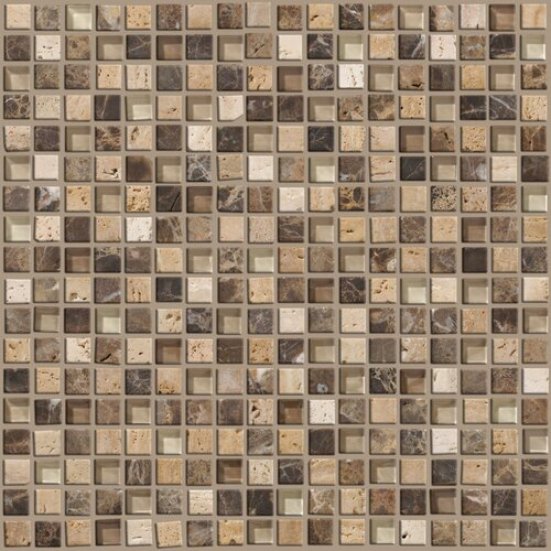 Mixed Up Mosaic Stone Accent Tile in River Bed