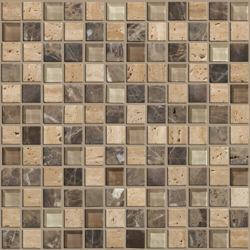 Shaw Floors Mixed Up Mosaic Stone Accent Tile in River Bed