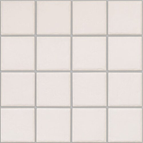 Colonnade Ceramic Mosaic Floor Tile in Plain White