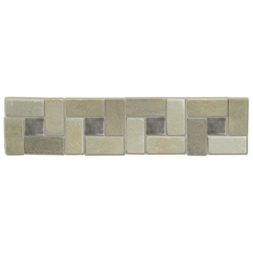 "Shaw Floors Autumn Slate 3"" x 12"" Listello Tile Accent in Autumn Pewter"