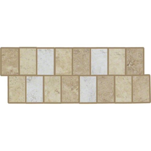 "Shaw Floors Costa D'Avorio 10"" x 4"" Wall Listello in Universal"