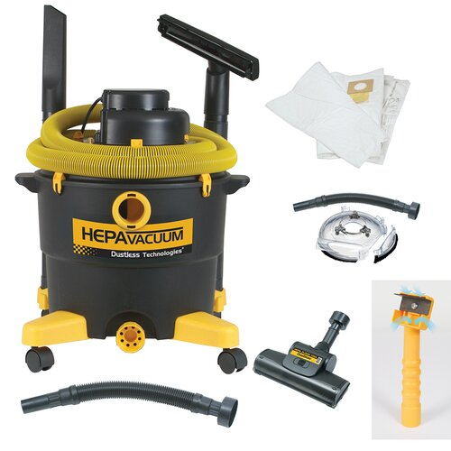 16 Gallon Dustless Renovate Right EPA HEPA Wet / Dry Vacuum