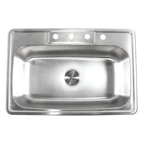 emodern decor 33 quot x 22 quot single bowl kitchen sink reviews