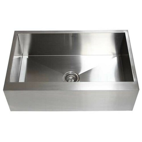 "eModern Decor Ariel 30"" x 21"" Stainless Steel Single Bowl Farmhouse"