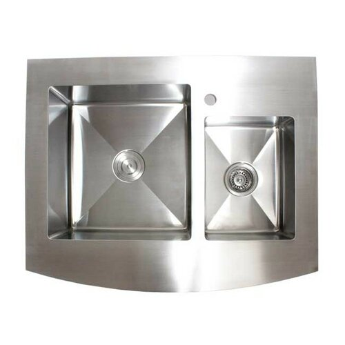 Ariel 36 x stainless steel 60 40 double offset for Emodern decor