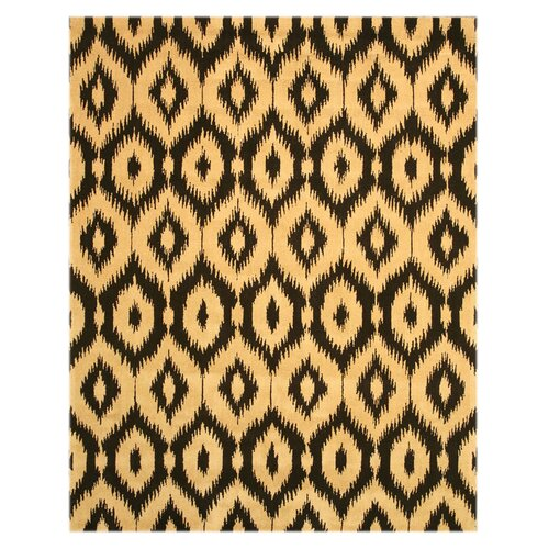 Black / Gold Ikat Rug