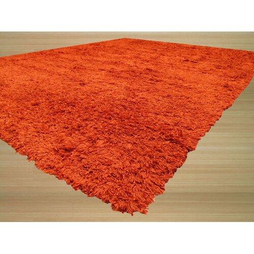 Burnt Orange Solid Area Rug