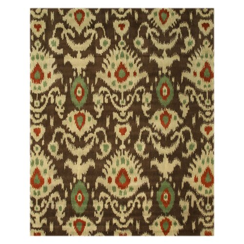 Brown Ikat Rug