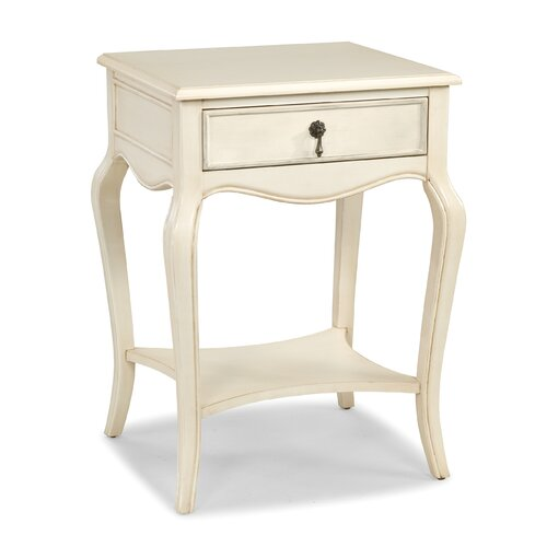 HeatherBrooke Furniture Blanc End Table