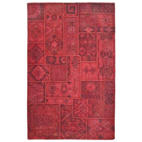 Kosas Home Lavaggio Crimson Patchwork Rug