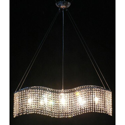 Modern 5 Light Crystal Chandelier