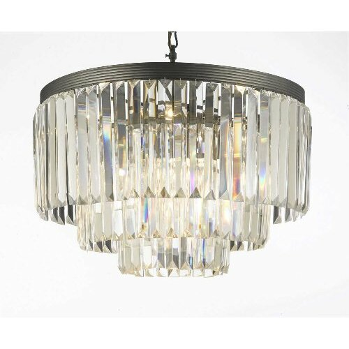 Empire 9 Light Crystal Chandelier