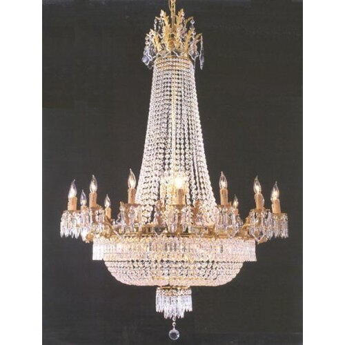 French Empire 36 Light Crystal Chandelier
