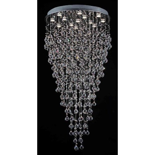 Rain Drop 13 Light Crystal Chandelier