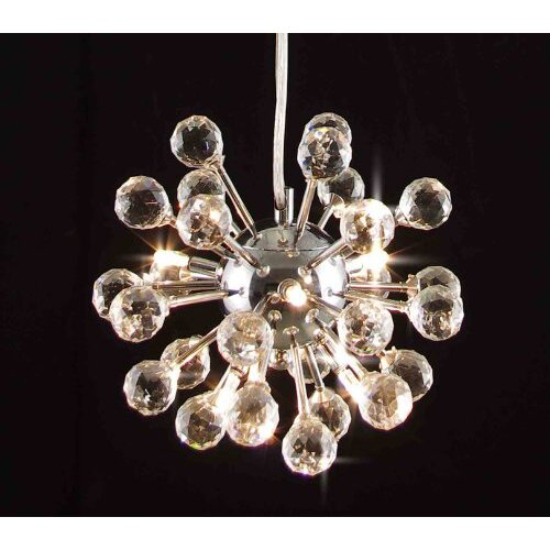 Modern 6 Light Crystal Chandelier