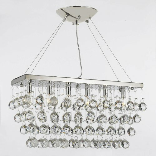 Rain Drop 6 Light Crystal Chandelier